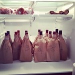 Brown-bagged wine ready for tasters at Joios' Rooftop Tasting