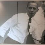 President Obama playing ping pong