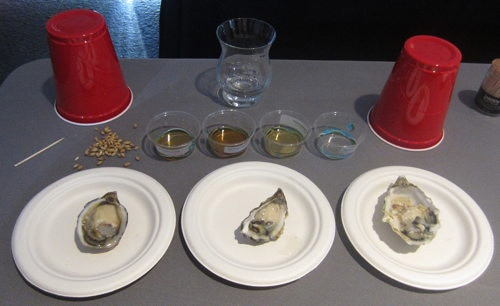 Oysters paired with Bowmore Islay Single Malt Scotch Whisky at SF Chefs 2013