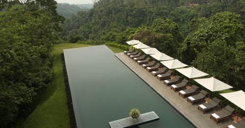 The pool at Alila Ubud in Bali