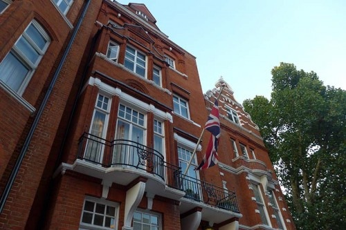 The exterior of the Draycott Hotel in London