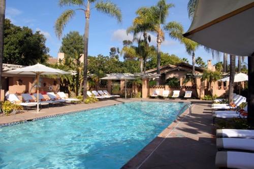 The pool at Rancho Valencia