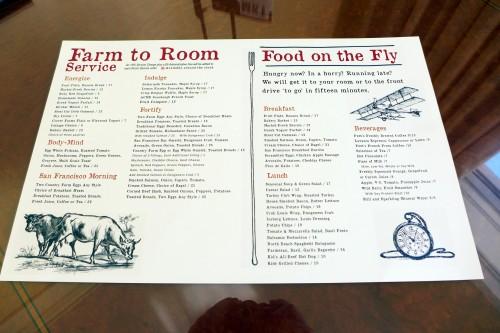 "The ""Farm to Room"" menu at Four Seasons Hotel San Francisco"
