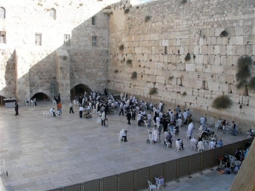 Western Wall, prayer area (men's side)