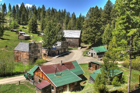 Garnet Ghost Town is home to many well-preserved buidlings over 100 years of age