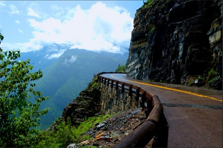 Going-to-the-Sun Road offers stunning views of Glacier National Park