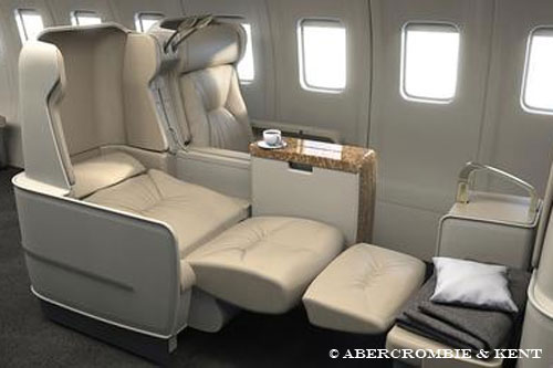 A&K's fully lie-flat seats allow passengers to travel in comfort