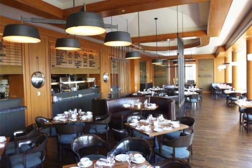 The interior of MKT Restaurant – Bar at Four Seasons Hotel San Francisco