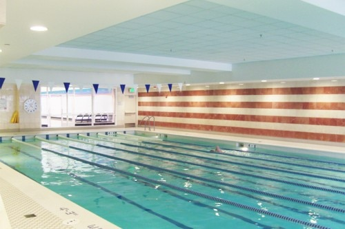 The junior Olympic swimming pool at Four Seasons Hotel San Francisco