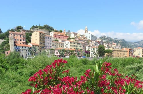 The beautiful city of Ventimiglia is a popular summer destination for tourists  on the French Riviera, but it's also a harsh setting for migrants