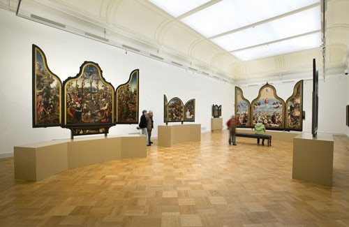 The museum houses works by master painters, such as Rembrandt