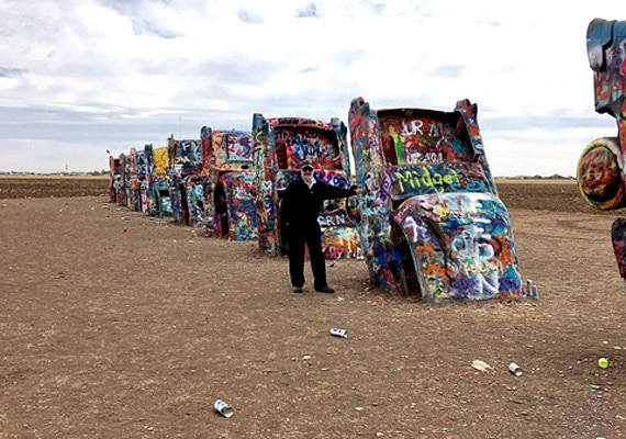 The famous Cadillac Ranch near Amarillo, Texas