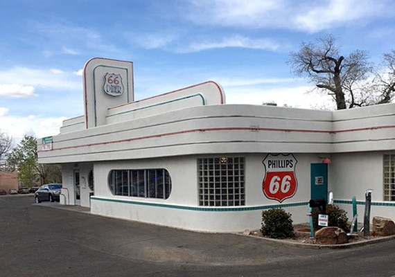 The 66 Diner in Albuquerque, New Mexico