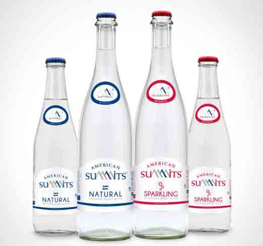 American Summits bottled water is sustainably sourced from springs high in the mountains of protected regions.