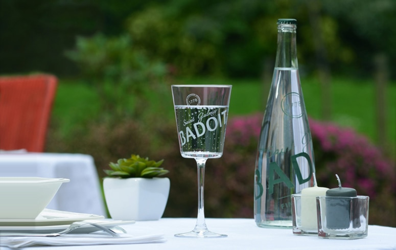 Badoit water from France offers a generous amount of trace minerals as well as light, playful bubbles.