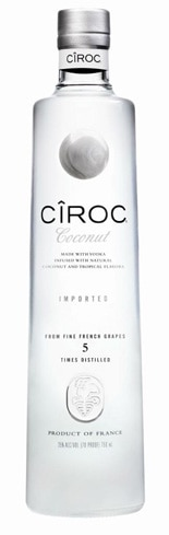 Cîroc Coconut is a creamy blend of coconut and tropical fruit flavors