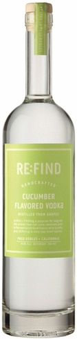 RE:FIND Cucumber Flavored Vodka is crisp and refreshing