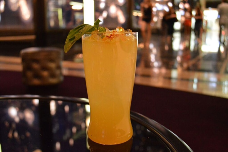 Spicing up a traditional Moscow Mule, saffron and Thai bitters are added to make The Spice Trade