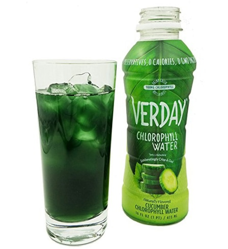 Verday chlorophyll water offers the antioxidant and cleansing benefits of green juice