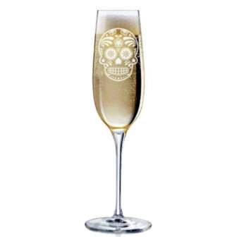 Calavera Champagne Flute