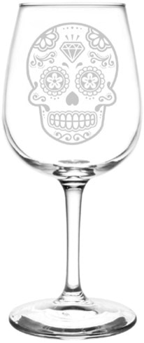 Calavera Wine Glass