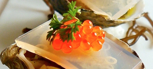 Oyster with roe from Chef Mavro, one of GAYOT's Top 40 Restaurants in America 2008