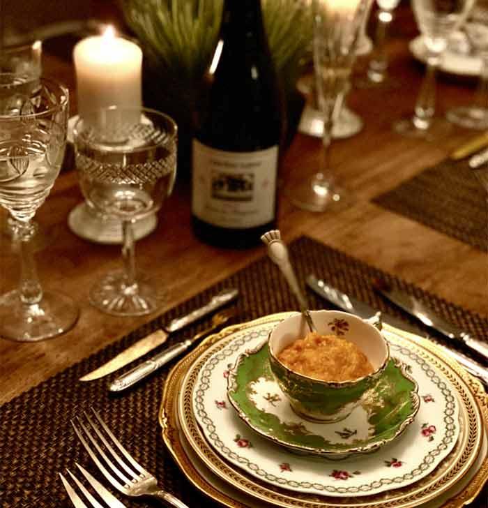 Pumpkin carrot ginger soup by private chef Michèle La Porta