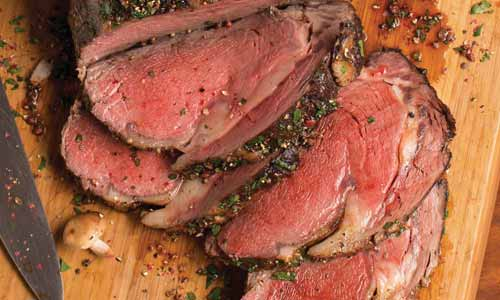 Prime rib is cut from the primal rib