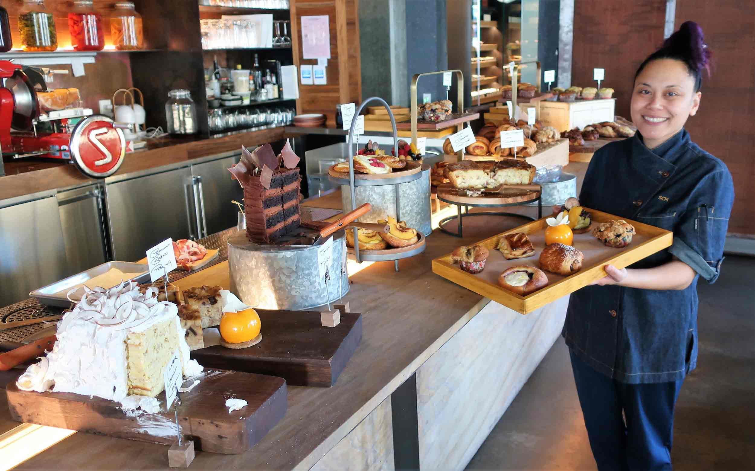 Pastry chef Sally Camacho Mueller