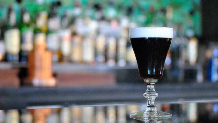 Irish coffee at Macallans Public House in Brea, CA