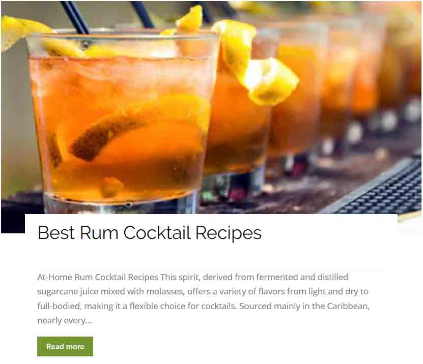 Best rum cocktail recipes