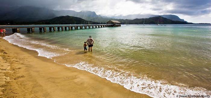 Hanalei Pier at Hanalei Bay