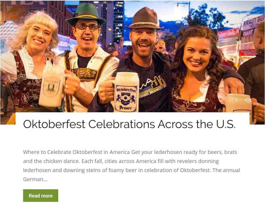 Oktoberfest Celebrations Across America