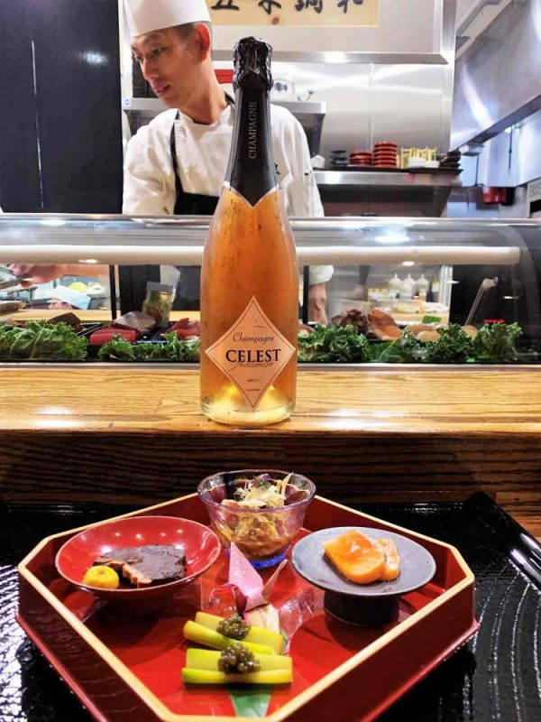 Sushi wine paring