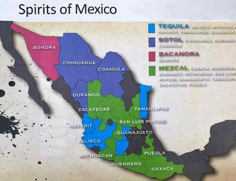 Tequila mezcal states Mexico