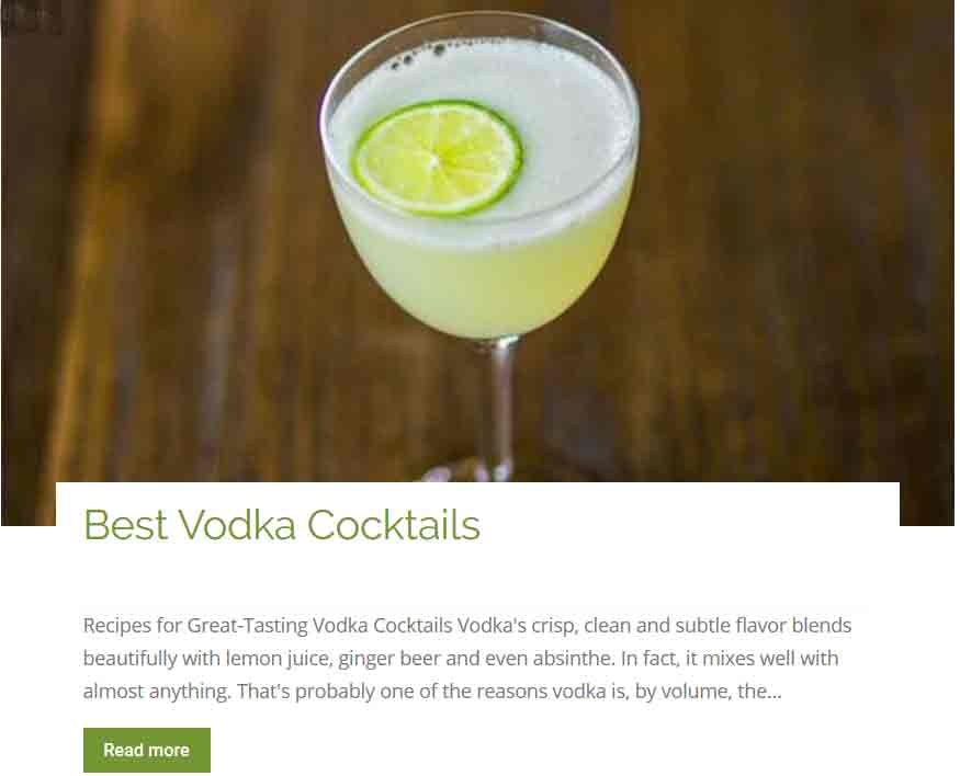 Best Vodkas Cocktails