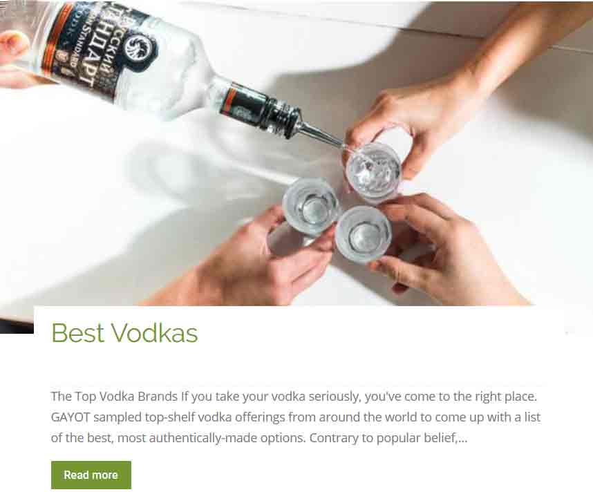 Best Vodkas
