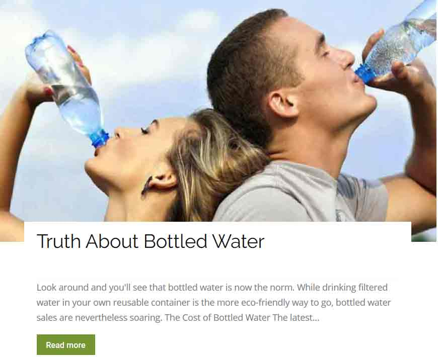 Truth About Bottled Water