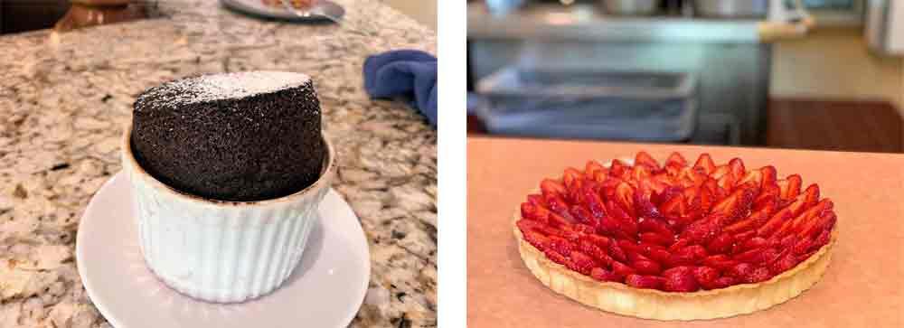 Chocolate soufflé | Tarte aux fraises