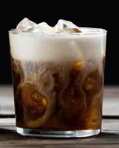 White russian cocktai; recipe