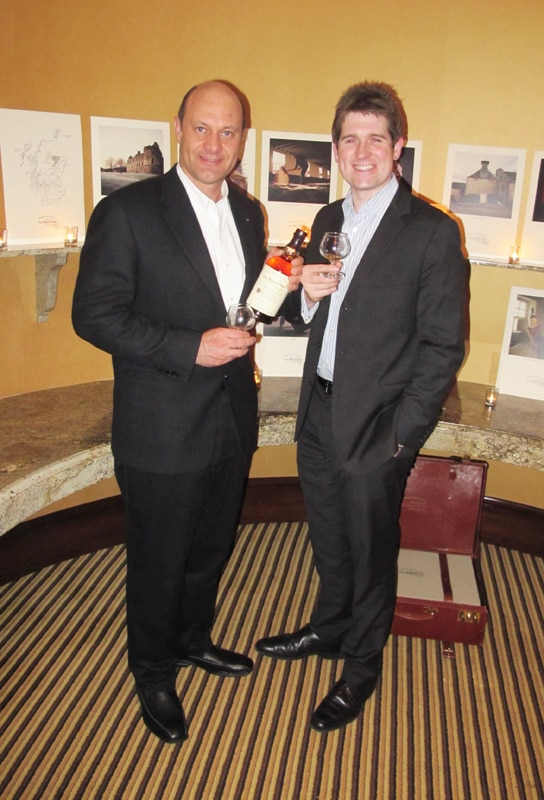 Brand Manager Andrew Weir with Alain Gayot