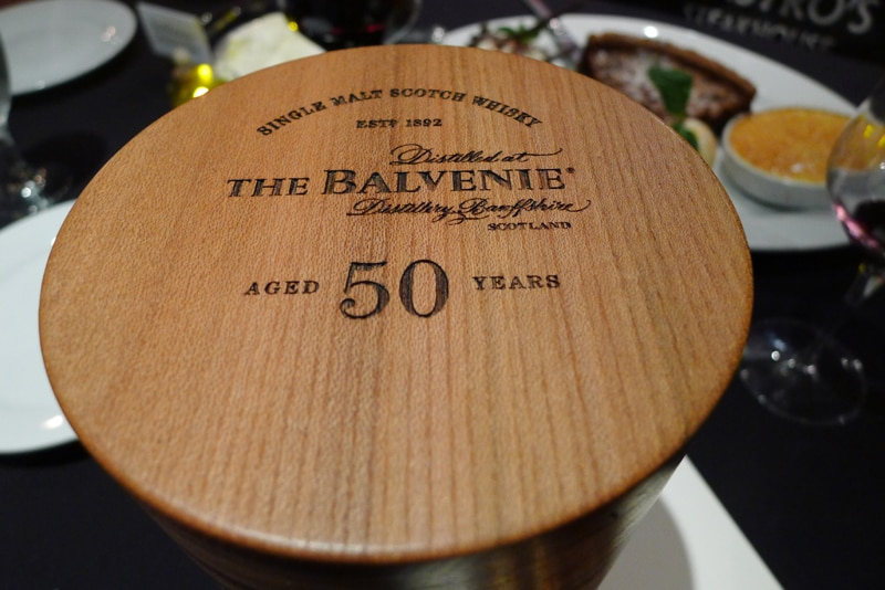 The Balvenie Aged 50 Years box top