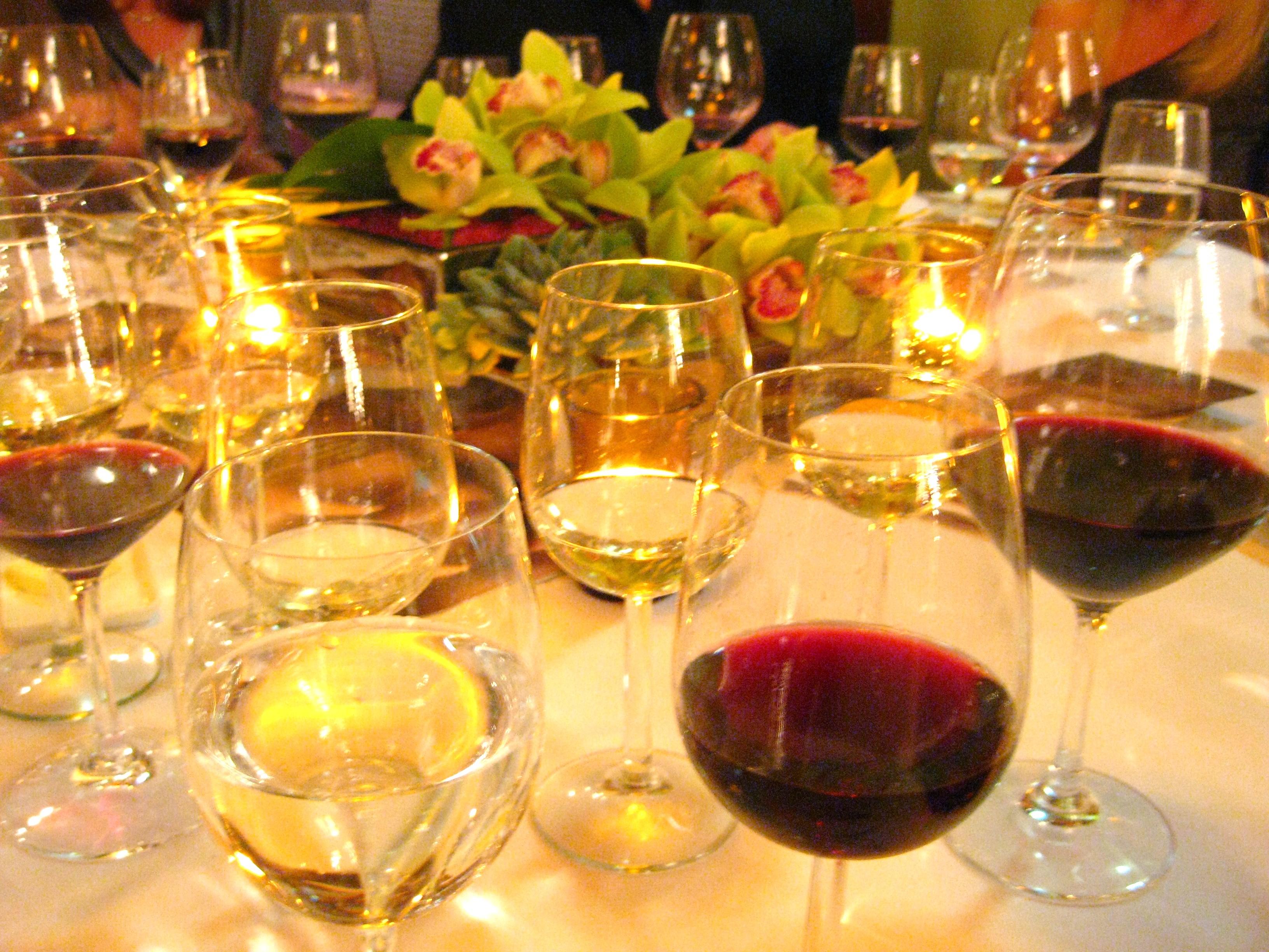 Many wines...