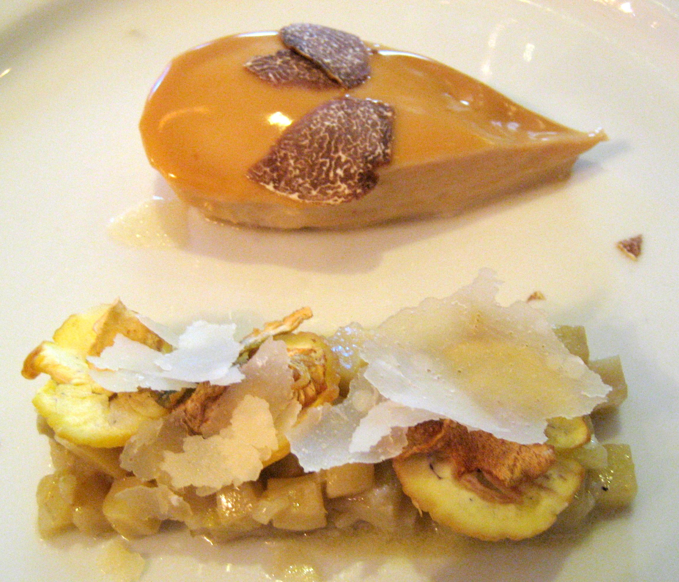 Foie gras prepared by chef Yannick Alléno