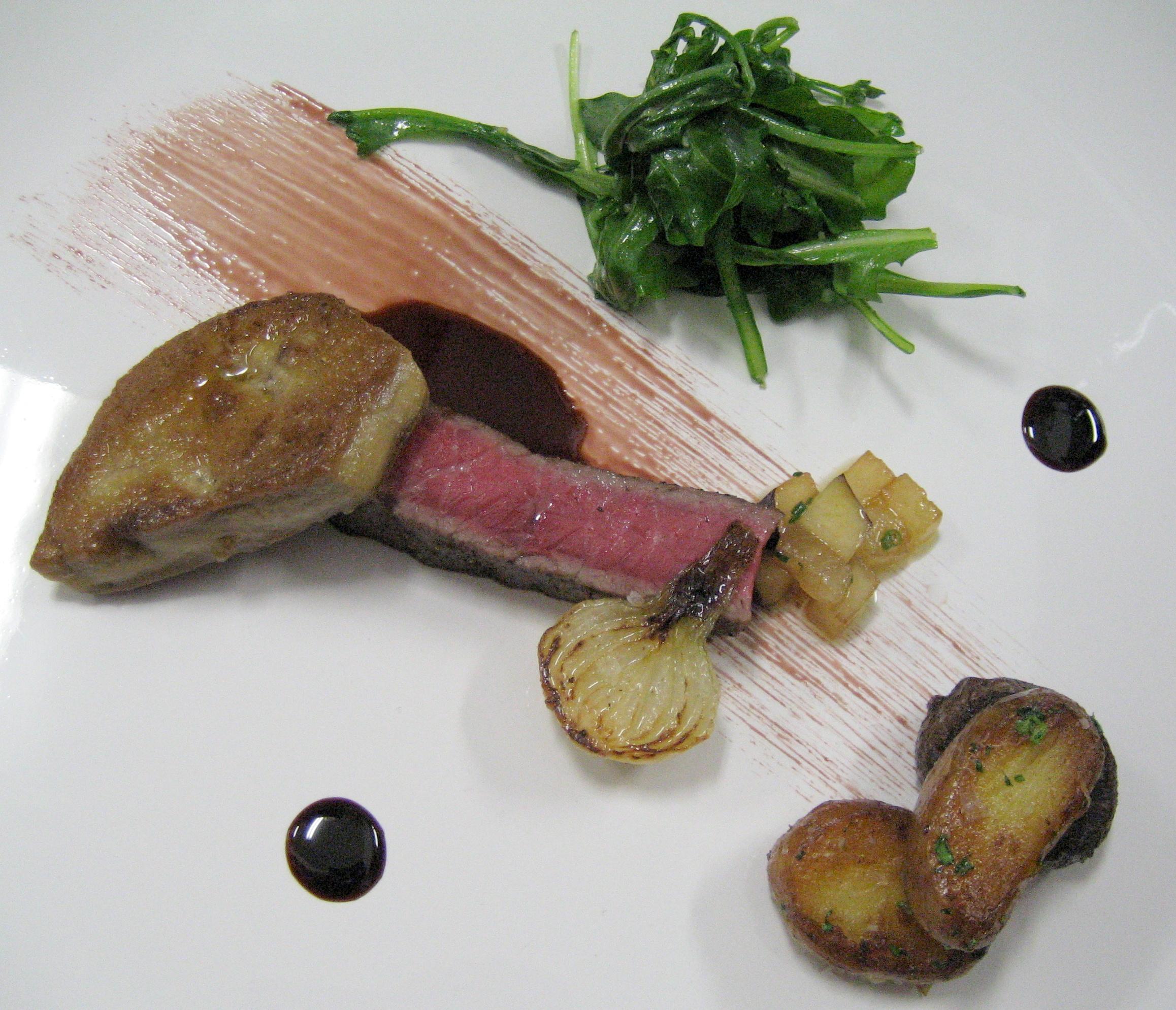 Foie gras prepared by chef Nadav Bashan