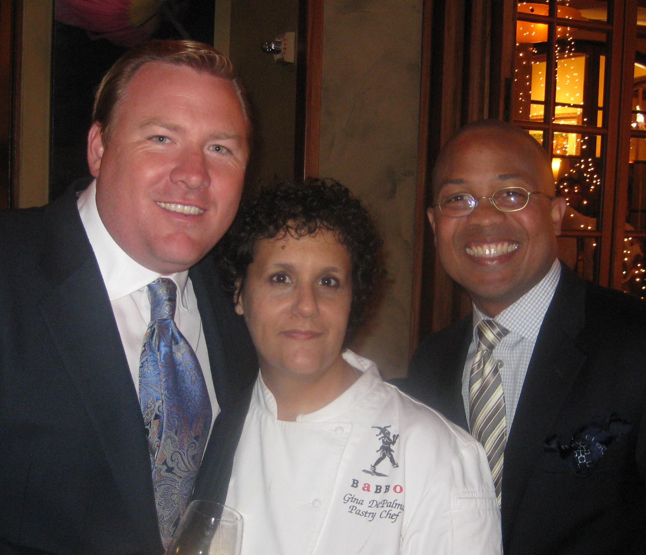 Robert Weakley, President of Pebble Beach Food & Wine, with pastry chef Gina DePalma from Babbo
