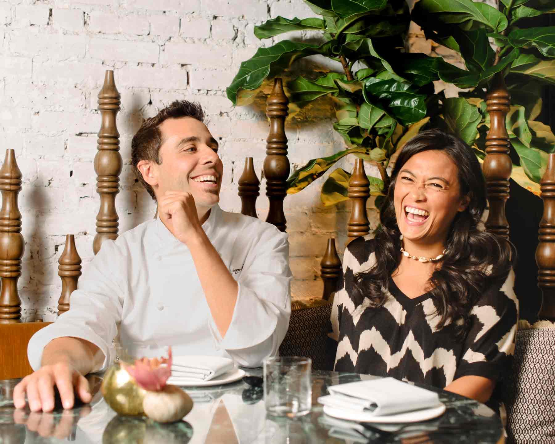 Chefs Cedric and Ochi Vongerichten Wayan NYC