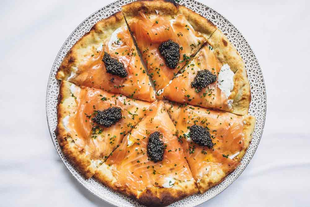 Wolfgang Puck Salmon Pizza