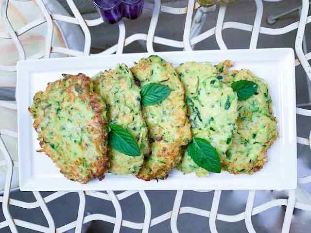 Zucchini pancakes recipe