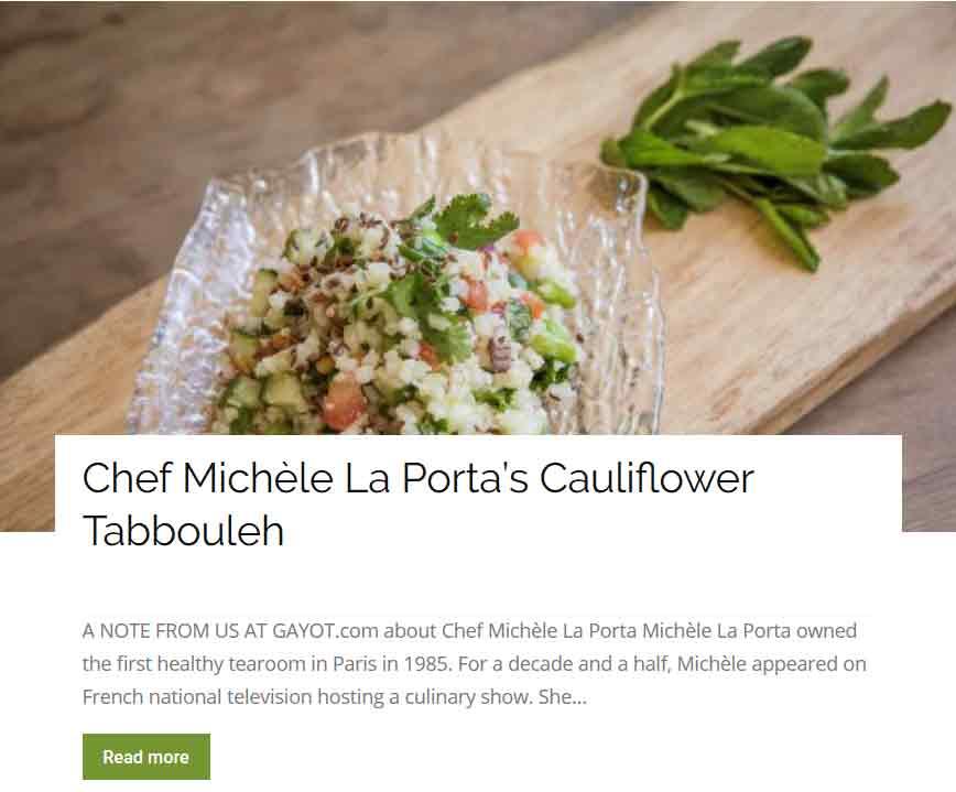 Che Michele La Porta Cauliflower Tabbouleh